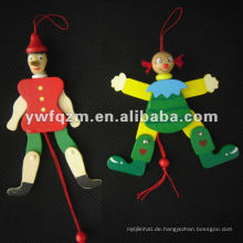 neue Design Holzschnur Puppe für Kinderspielzeug