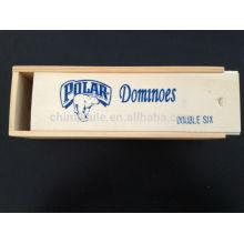 Logo Domino-Sets mit Holzkiste