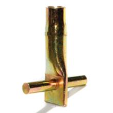Douille de fixation préfabriquée en béton avec goupille transversale (matériel de construction)