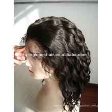 12 inch best quality virgin human hair short hair wig