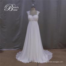 Простой A-Line Шифон Свадебное Платье Ноты