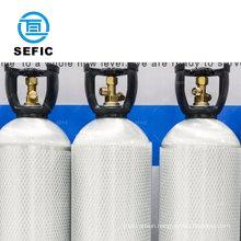 Malaysia Maldives popular 10L co2 gas aluminum cylinder