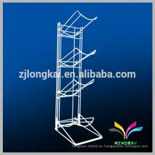 Fuente de la fábrica de la alta calidad 4 gradas Alambre de metal blanco estante de exhibición de la botella de agua de 5 galones