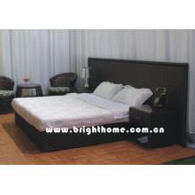 Rattan Wicker Bed Hotel Furniture Bp-B28