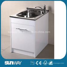 Hot Sale Sanitary Ware Bacia de lavanderia de aço inoxidável com bloqueio de água