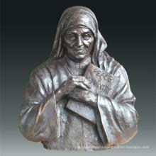 Large Figure Statue Madre Teresa Bronze Sculpture Tpls-076