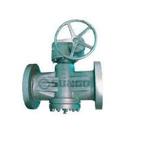 Inverted pressure balanced lubricated plug valve