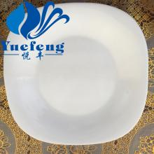 "Opal Glassware Square Flat Plate 8""/9""/11"""