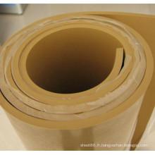Feuille de caoutchouc naturel de couleur beige brun de 10mm