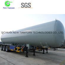 40m3 Volume 1.8MPa Pressure Lar Tanque de armazenamento líquido Semi-reboque