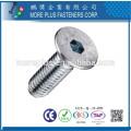 Fabriqué en acier inoxydable Taiwann M5 Hex Drive Flat Head Machine Screw