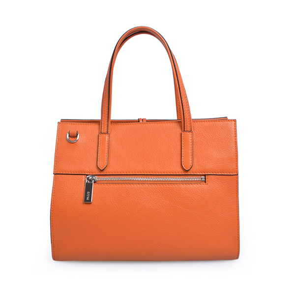 colorful smooth leather accordion lady business travel hand bags women tote bag