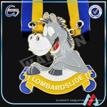 Unique Zinc alloy paint metal horse medals
