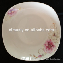 new bone china square dish plate