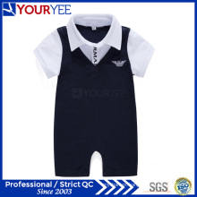 OEM Good Quality Baby Boy Clothes Lapel Romper Supplier (YBY115)