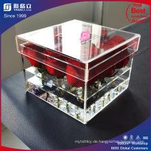 Hohe transparente Acryl Blumen Box / Großhandel Clear Acryl Blumen Box