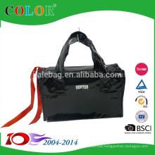 black recycle pp nonwoven zipper bag,little pp bag
