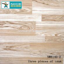 NWseries Три куска дерева из тикового дерева Паркетный пол из дерева HDF core Паркетный пол