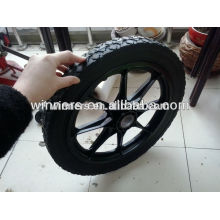 "16"" x 1.75"" solid rubber powder wheel with steel rim"