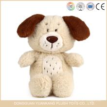 Brinquedo do cão da menina do luxuoso do baixo preço por atacado de Brown