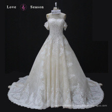 WX16127 ivory luxury elegant sirena style perfect lace keyhole cap sleeve wedding dress