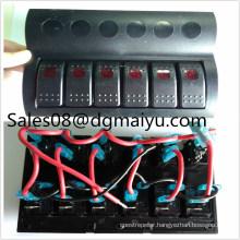 Af6 Gang LED Boat Caravan Circuit Rocker Switch Panel Auto Fuse Holders