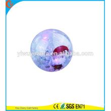 Juguete de alta Qulity Kid LED de goma 75 mm de agua de Navidad Bouncy Ball