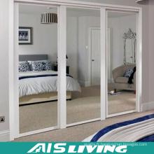 Placard fait sur commande de garde-robe de chambre à coucher avec la porte coulissante de miroir (AIS-W243)