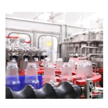 Línea de producción de llenado automático de embotellado de vidrio para bebidas