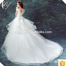 Vestido de noiva de renda branco com pingente de renda branca vestido de noiva de vestido de bola branca