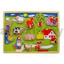 Wooden Magnetic Farm Puzzle (80134)