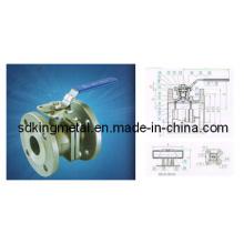 Válvula de esfera flangeada 2PC com almofada de montagem direta (DIN)