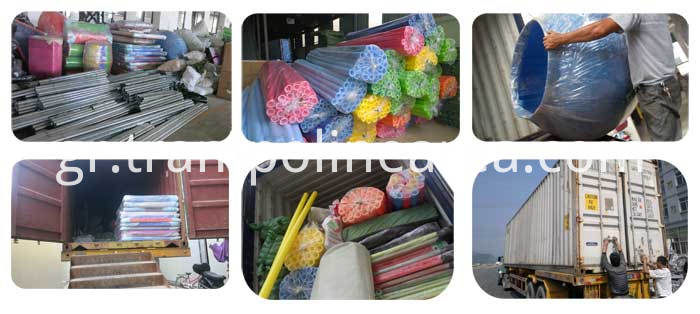 Packing of indoor playground equipment