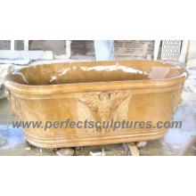 Bañera de baño clásico de la cocina de la antigüedad con el granito de mármol de piedra (QBN064)