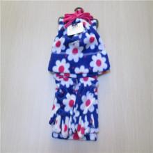 Дамы моды флис шляпа шарф перчатки набор