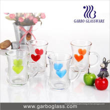 5oz Mentions légales Heart Design Glass Mug