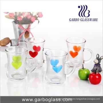 5oz Imprint Heart Design Glass Mug