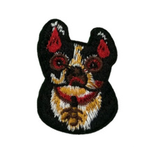 Custom Patches Dog Shaped Embroidered Patch And Iron On Cartoon Badges Wholesale