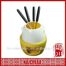 Set de fondue chino cerámico, quemador de fondue de cerámica
