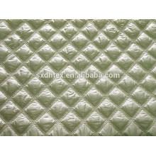 Tela acolchada de diamante, doble faz acolchados de la tela, acolchado de invierno chaqueta de tela