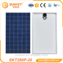 o preço de custo Poly painel solar 280 w made in China