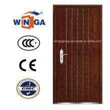 Porta blindada de folheado de madeira de aço inoxidável Europ Security (W-A2)