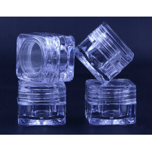 OEM Transparent Acrylic Square Cream Cosmetic Jar with Lid