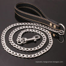 Wholesale Drop Shipping Gold Chain Leash For Large Dogs Stainless Steel Dog Chains Pet Leash Chains