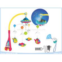 Fernbedienung Musikalische Spielzeuge Projektive Baby Mobiles auf Krippe für Baby