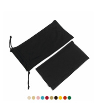 Wholesale microfiber glasses cases portable eyeglasses storage bag soft sunglasses pouch with drawstring