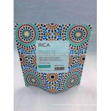 Bolsa de papel colorida de la cremallera del papel de aluminio del soporte para arriba