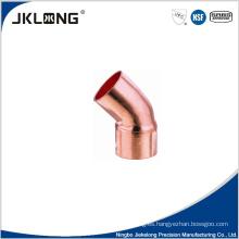 J9008 de cobre forjado de 45 grados de codo de empalme de 1 pulgada de tubería de cobre de montaje