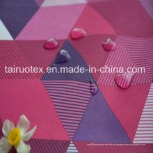 Taslon impresso com revestimento impermeável e branco para tecido de vestuário