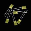 Diodo emisor de luz amarilla LED de rectángulo de 2 × 5 × 7 mm
